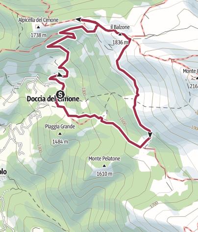 Map / Doccia-Alpicella del Cimone-Il Balzone-Campile