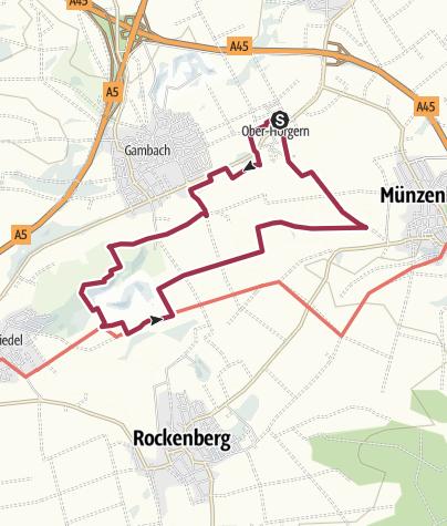 Karte / Naturwanderung im Münzenberger Südwesten
