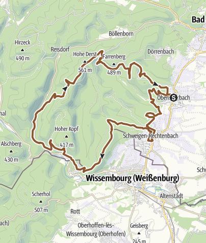 Karte / Oberotterbach Tour 10 (Bad Bergzabern-Süd)