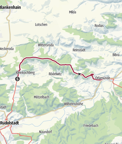 Map / Luther Trail: Section 31 – From Großkochberg to Orlamünde