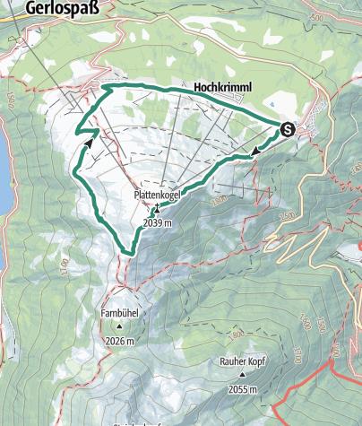 Karte / Plattenkogel (Rundweg)