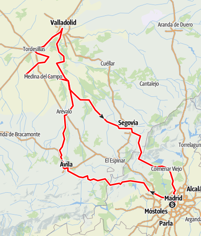 Map / RUEDA Weinroute