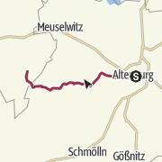 Mapa / Lutherweg: Etappe 36 - Von Altenburg nach Kayna
