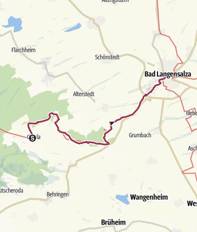 Karte / Lutherweg: Etappe 41 - Von Craula nach Bad Langensalza