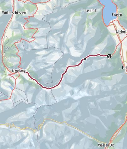 Map / Surenenpass: Brüsti - Engelberg