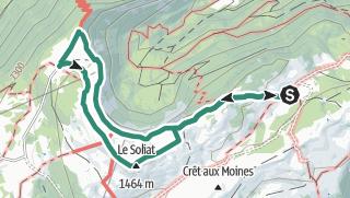 Mapa / Randonnée en montagne le 5 septembre 2020 creu du van