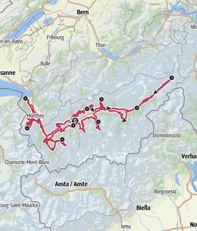 Map / Valais Cycling Tour