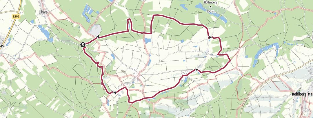 Karte / Rundwanderweg Massenricht (Wanderweg)