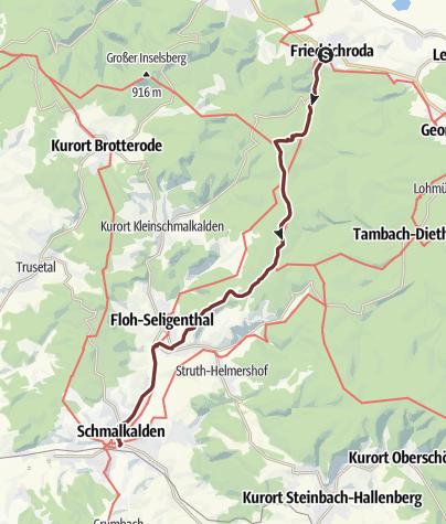 Karte / VIA ROMEA Friedrichroda - Schmalkalden (28)