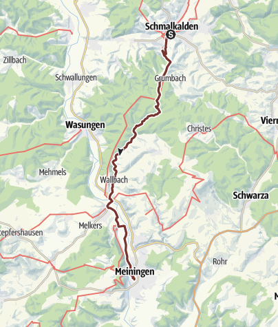 Karte / VIA ROMEA Schmalkalden - Meiningen (29)