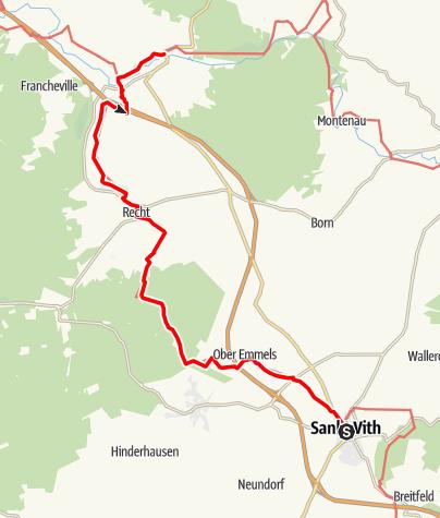 Carte / Gr 56 – Etape St.Vith / Ligneuville