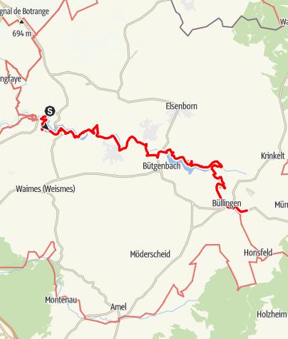 Carte / Gr 56 – Etape Robertville / Büllingen