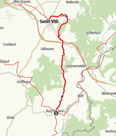 Kaart / Gr 56 – Route Burg-Reuland – St.Vith