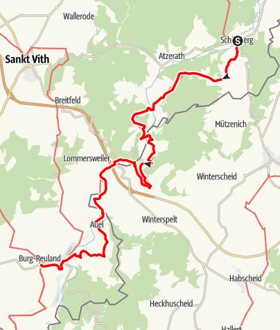 Kaart / GR 56 - Etappe Schönberg / Burg Reuland
