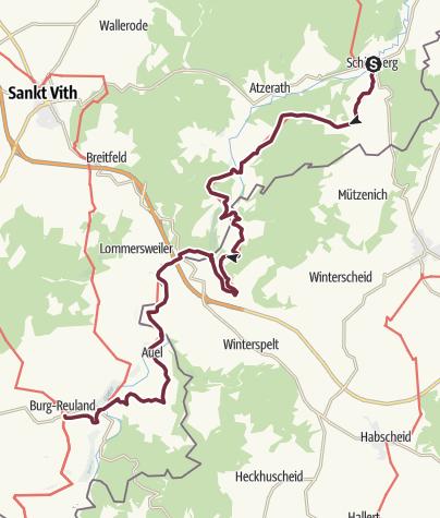 Map / GR 56 - Etappe Schönberg / Burg-Reuland