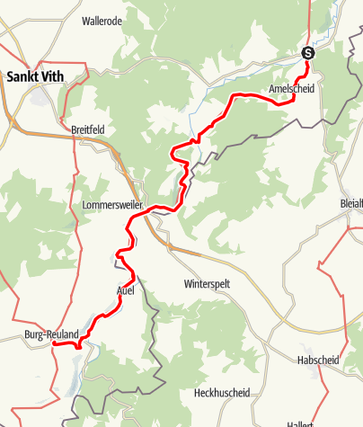 Carte / GR 56 - Etape Schönberg / Burg Reuland