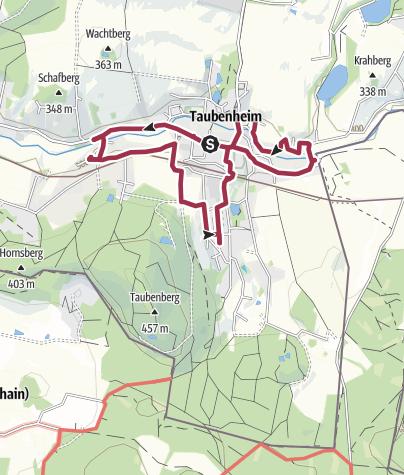 Karte / Sonnenuhrenpfad - Taubenheim/Spree