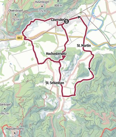 Karte / Rund um die Burg Hochosterwitz (4)