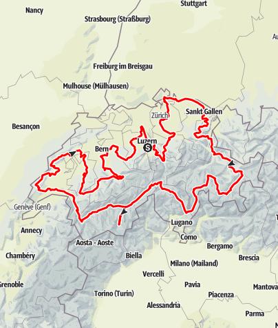 Map / Grand Tour of Switzerland