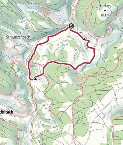 Karte / Tennenbronn Hub-Kohlwald Runde