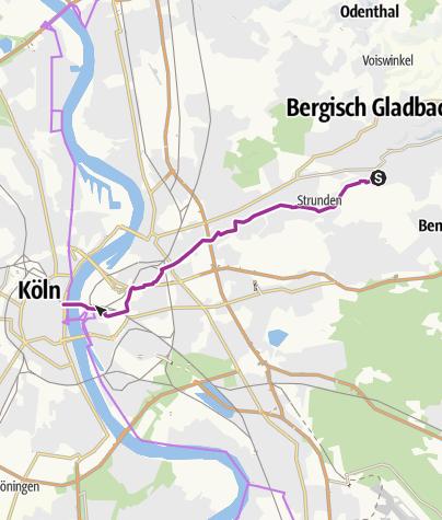 Map / Radschnellverbindung Bergisch Gladbach - Köln