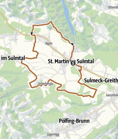 Karte / Archäologischer Weg 1 rund um St. Martin