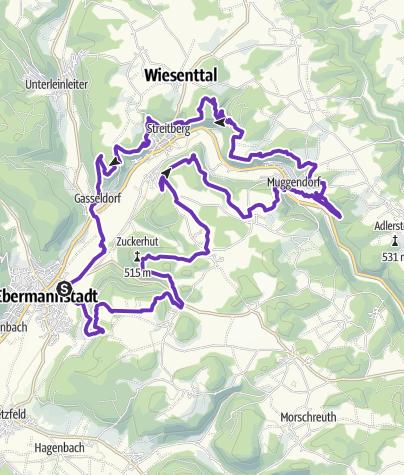 Karte / Ebermannstadt-Trail 50pro ~ part of FS-Trailissimo