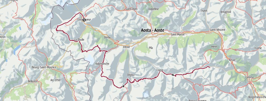 Mapa / Alta Via 2