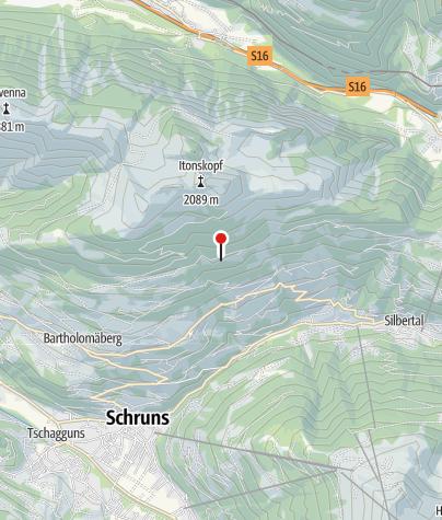 Karte / Torasee Bartholomäberg