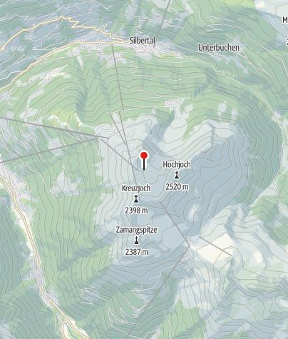 Karte / Kälbersee auf dem Hochjoch