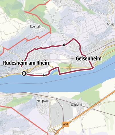 Karte / Rüdesheim Geisenheim ü. Mückenberg zurück