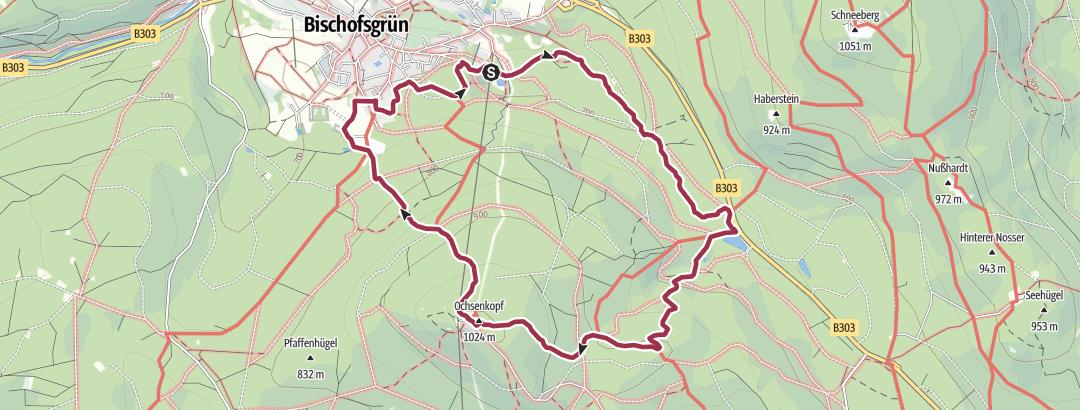 Map / bevandert x Weißmain-Ochsenkopf-Steig