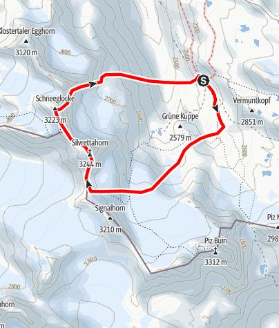 Karte / Silvrettahorn-Überschreitung