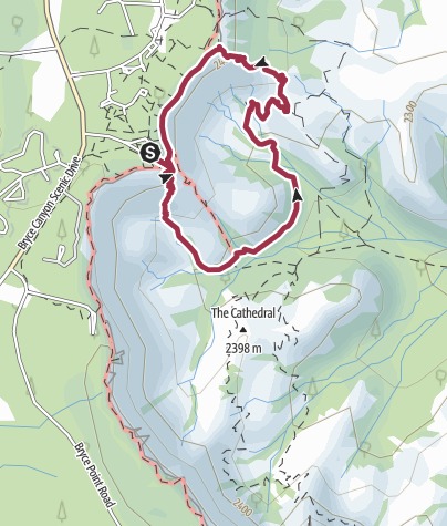 Map / Queen's Garden Trail - Bryce Canyon