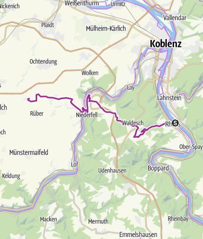 Karte / Rhein-Mosel-Eifel-Radweg