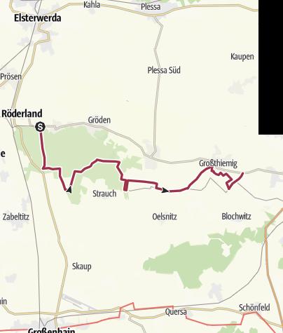 Karte / Sagenhafte Wanderung durch das Schradenland:  Grenzsteinwanderung