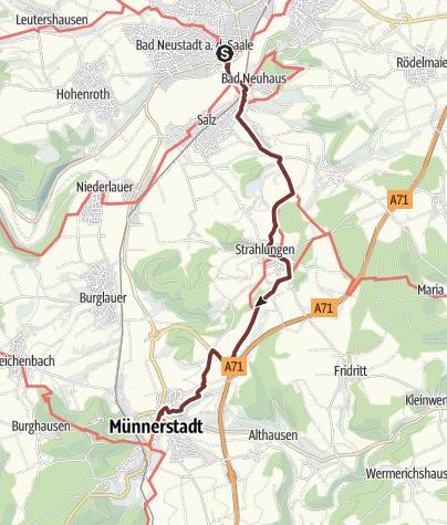 Karte / VIA ROMEA Bad Neustadt - Münnerstadt (32)