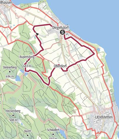 Karte / Fließhorn und Dingelsdorfer Ried