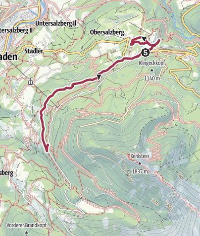 Karte / Carl-von-Linde-Weg mit Stützmauer Berghof und Falknerei