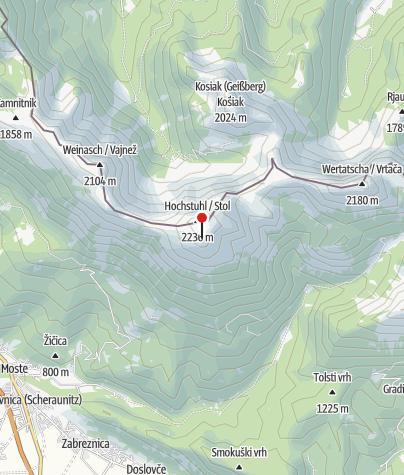 Map / Prešernova Koca na Stolu