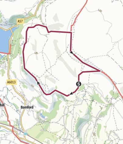 Map / Bamford Edge and Stanage Edge Circular
