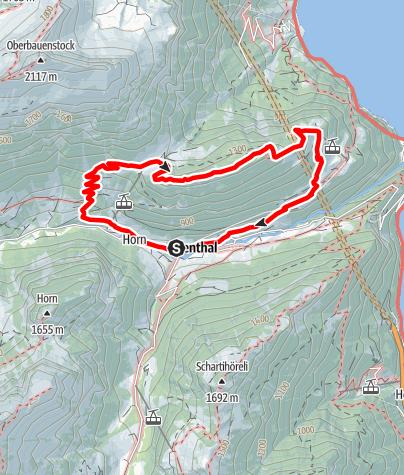 Karte / Urner Mundartweg (Rundwanderung im Isenthal)