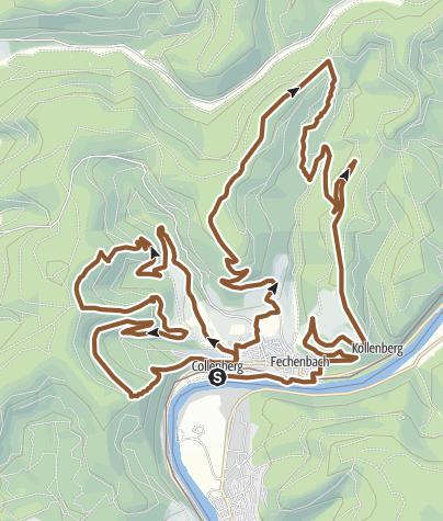 Karte / Mountainbike - Rundstrecke Collenberg
