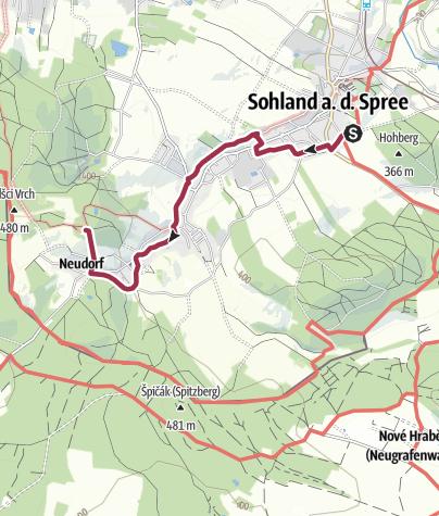 Karte / Planetenweg Sohland a.d. Spree
