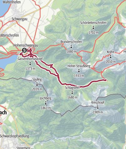 Karte / Hüttentour zur Jägerhütte
