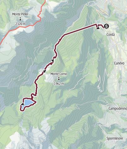 Carte / Al lago di Tovel da Terres, le vie dell'acqua attraverso le montagne.
