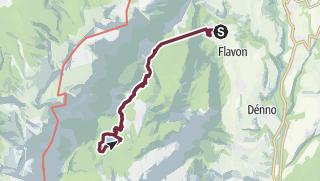 Map / Al lago di Tovel da Terres, le vie dell'acqua attraverso le montagne.