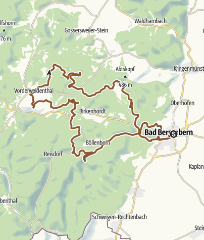 Karte / Bad Bergzabern Tour 9 (Bad Bergzabern-Nord)