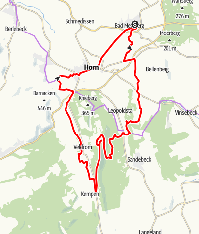 Karte / Einsteigertour zum Eggeturm und zu den Externsteinen