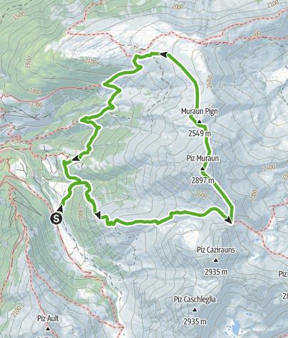 Map / Gipfelerlebnis T4 - Piz Muraun